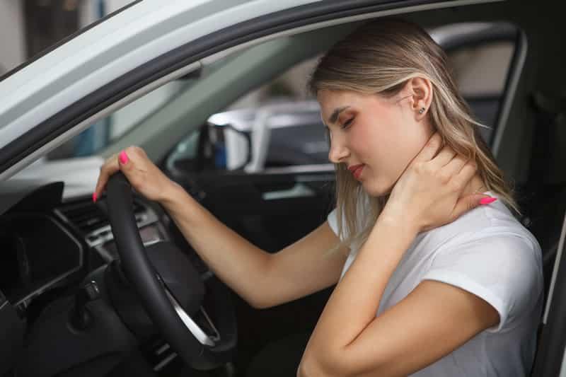El latigazo cervical en accidente de circulación